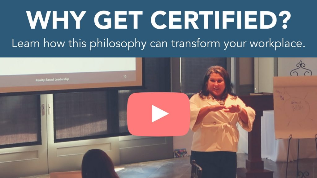 Become A Certified Reality Based Facilitator