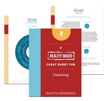 Reality-Based Coaching Cheat Sheet PHOTO
