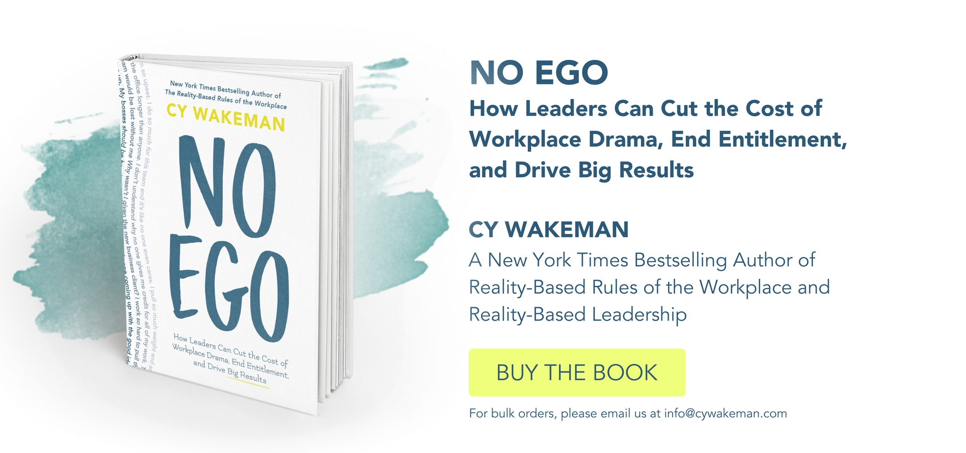 No Ego Book by Cy Wakeman